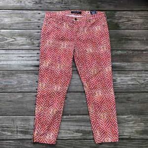 Liverpool Jean Company Bittersweet Coral Capris
